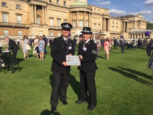 dofe award CI Ian Sewart and sgt Helen Nellany