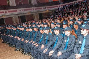 cadet ceremony seated